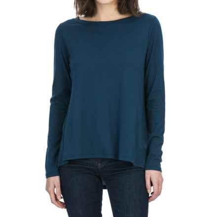 Lilla P Pleat Back Shirt - Pima Cotton-Modal, Long Sleeve (For Women) in Lake - Closeouts