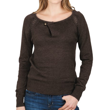 Lilla P Pointelle Raglan Sweater (For Women) in Java