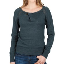Lilla P Pointelle Raglan Sweater (For Women) in Lagoon - Closeouts