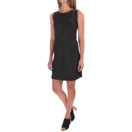 Lilla P Ponte Seamed Dress - Sleeveless (For Women) in Charcoal - Closeouts