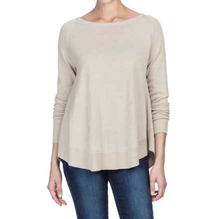 Lilla P Raglan Swing Sweater - Cotton-Modal (For Women) in Barley - Closeouts