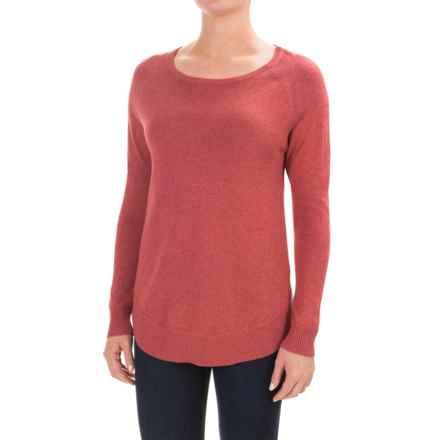 Lilla P Raglan Swing Sweater - Cotton-Modal (For Women) in Rose Water - Closeouts
