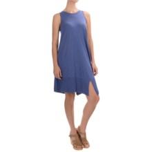 Lilla P Ribbed Bottom Tank Dress - Pima Cotton-Modal, Sleeveless (For Women) in Marlin - Overstock