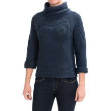 Lilla P Roll Neck Sweater (For Women) in Denim - Closeouts