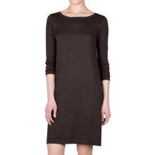 Lilla P Scoop Neck Sweater Dress - Long Sleeve (For Women) in Iron - Closeouts