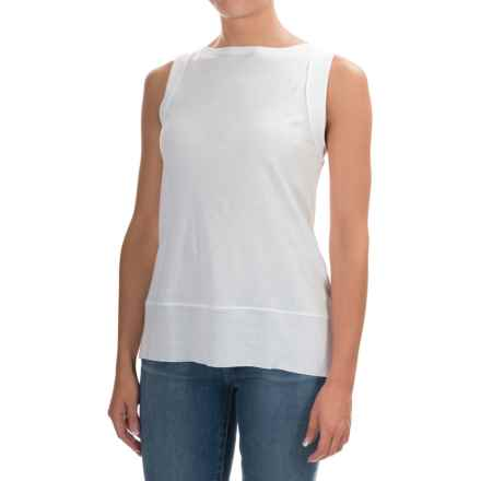 Lilla P Seamed Shell Camisole - Sleeveless (For Women) in White - Overstock