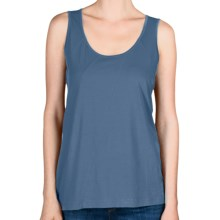 Lilla P Seamed Tank Top - Pima Cotton Jersey (For Women) in Azure - Closeouts