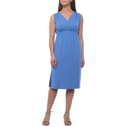 d22cda8165 Lilla P Shirred Shoulder Midi Dress - Sleeveless (For Women) in Periwinkle