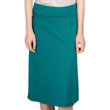 Lilla P Side Slit Skirt - Stretch Pima Cotton-Modal (For Women) in Enamel - Closeouts