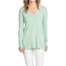 Lilla P Side Slit Tunic Sweater - Cotton-Modal (For Women) in Surf - Closeouts