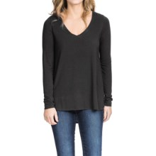 Lilla P Slinky Jersey V-Neck Shirt - Long Sleeve (For Women) in Black - Closeouts