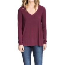 Lilla P Slinky Jersey V-Neck Shirt - Long Sleeve (For Women) in Chianti - Closeouts