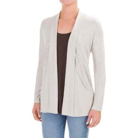 Lilla P Slub Open Cardigan Jacket - Pima Cotton-Modal (For Women) in Fog - Closeouts