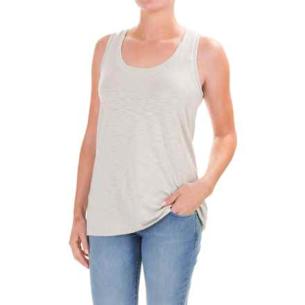 Lilla P Slub Tank Top - Pima Cotton-Modal (For Women) in Fog - Closeouts