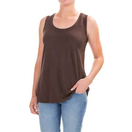 Lilla P Slub Tank Top - Pima Cotton-Modal (For Women) in Java - Closeouts