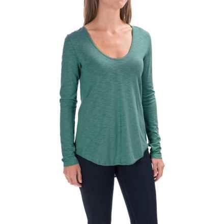 Lilla P Slub V-Neck Shirt - Long Sleeve (For Women) in Stream - Closeouts