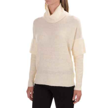Lilla P Soft and Cozy Turtleneck Sweater (For Women) in Birch - Closeouts