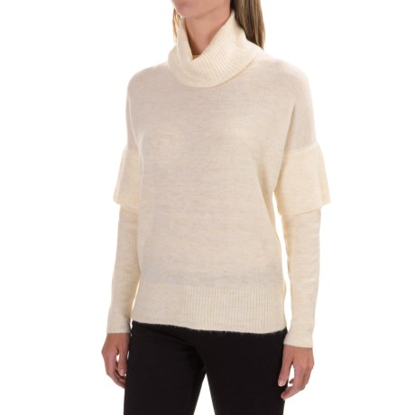 Lilla P Soft and Cozy Turtleneck Sweater (For Women) in Birch