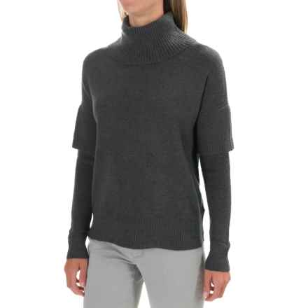 Lilla P Soft and Cozy Turtleneck Sweater (For Women) in Charcoal - Closeouts