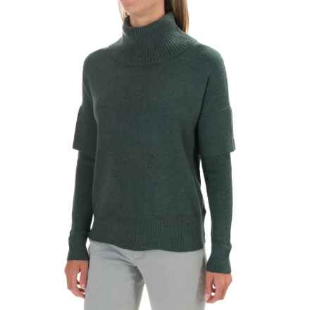 Lilla P Soft and Cozy Turtleneck Sweater (For Women) in Juniper - Closeouts