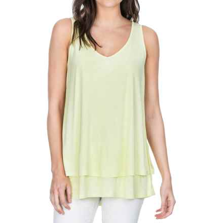 Lilla P Soft-Draped Double-Layer Tank Top (For Women) in Keylime - Closeouts