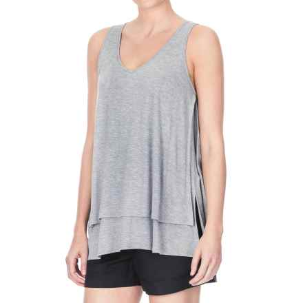 Lilla P Soft-Draped Double-Layer Tank Top (For Women) in Pewter - Closeouts