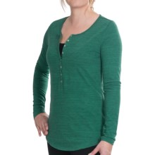 Lilla P Space Dye Henley Shirt - Long Sleeve (For Women) in Patina Space Dye - Closeouts