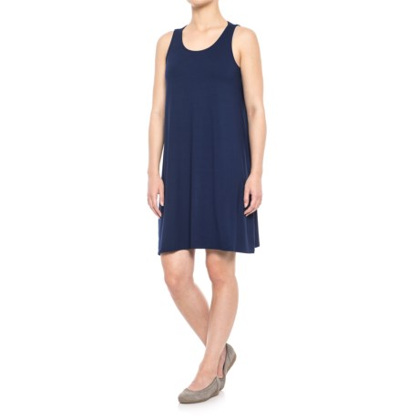 Lilla P Stretch Jersey Tie-Back Dress - Sleeveless (For Women) in Navy