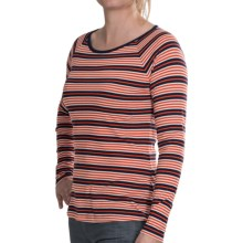 Lilla P Stripe Boat Neck Shirt - Pima Cotton, Long Sleeve (For Women) in Mandarin Stripe - Closeouts