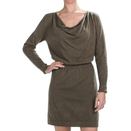 Lilla P Sweater Dress - Long Sleeve (For Women) in Bark