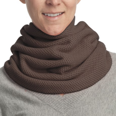 Lilla P Tuck Stitch Cowl Scarf (For Women) in Java