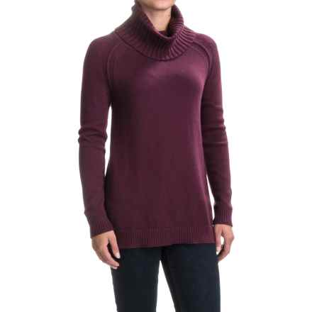 Lilla P Tunic Turtleneck Sweater (For Women) in Plum - Closeouts
