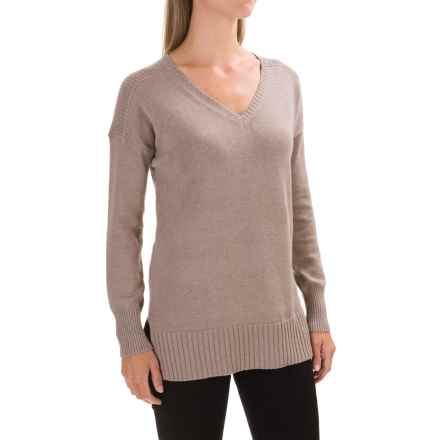Lilla P V-Neck Tunic Sweater (For Women) in Maple - Closeouts