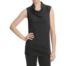 Lilla P Whisper Weight Cowl Neck Shirt - Pima Cotton, Sleeveless (For Women) in Black - Closeouts