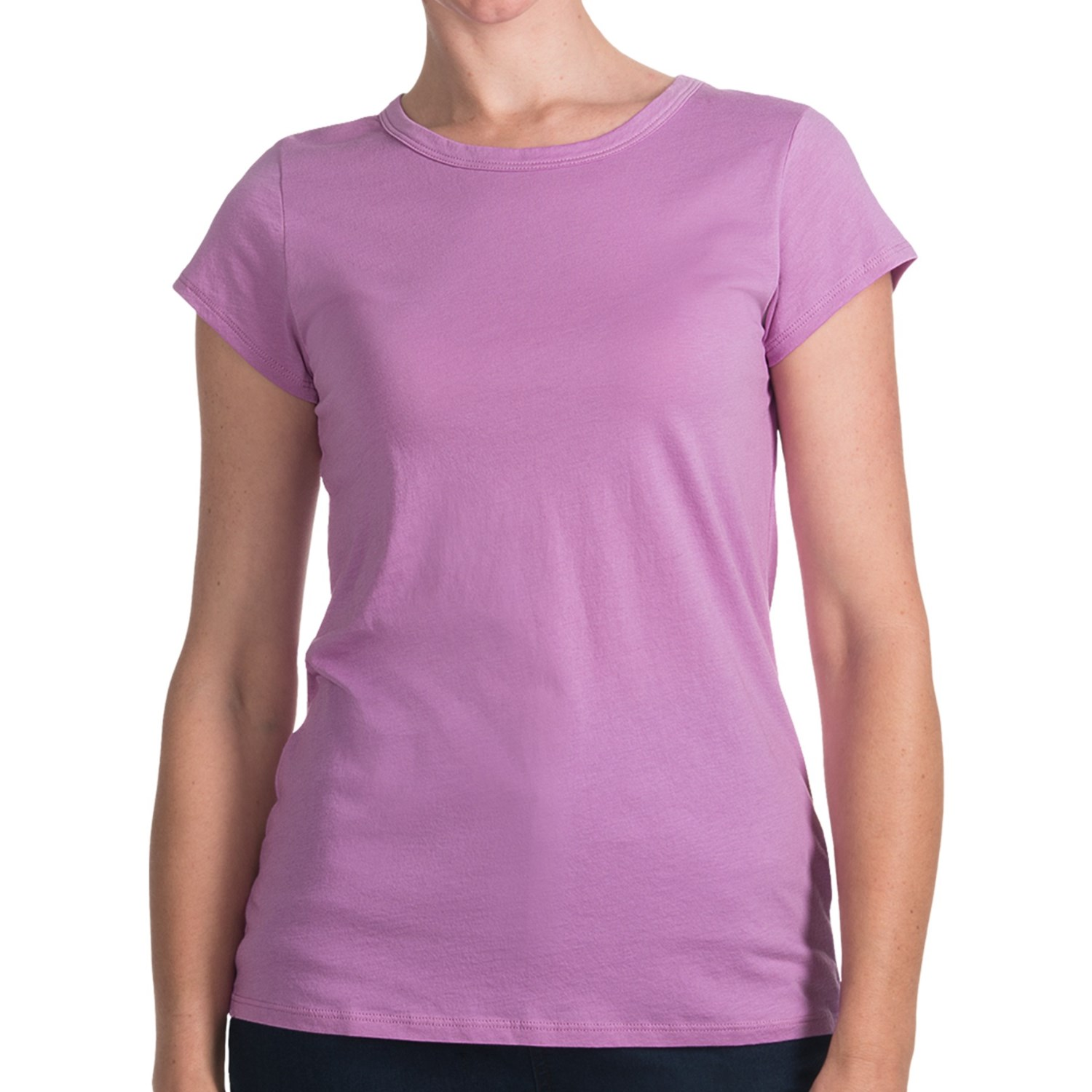 lilla p whisper weight pima cotton t shirt crew short