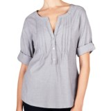 Lilla P Woven Cotton Tunic Shirt - 3/4 Sleeve (For Women)