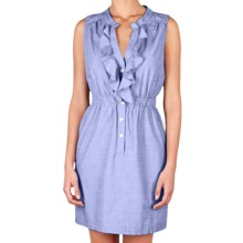 Lilla P Woven Shirt Dress - Cotton, Sleeveless (For Women) in Harbor - Closeouts