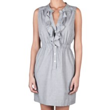 Lilla P Woven Shirt Dress - Cotton, Sleeveless (For Women) in Mist - Closeouts