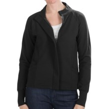 Lilla P Wrapped Pocket Jacket - French Terry (For Women) in Black - Closeouts