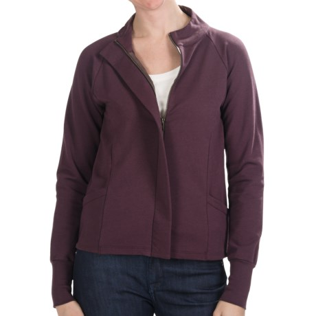 Lilla P Wrapped Pocket Jacket - French Terry (For Women) in Merlot