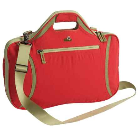 Lilypond Firehorn Laptop Bag in Geranium - Closeouts