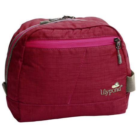 Lilypond Hummingbird Cosmetic Bag (For Women) in Alpine Berry