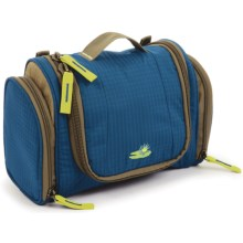 Lilypond Nightingale Hanging Cosmetic Bag - Recycled Materials (For Women) in Marine Blue - Closeouts