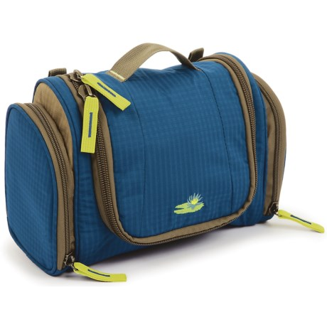 Lilypond Nightingale Hanging Cosmetic Bag - Recycled Materials (For Women) in Marine Blue