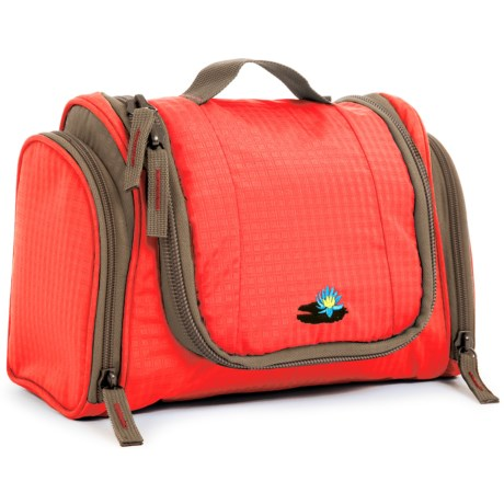 Lilypond Nightingale Hanging Cosmetic Bag - Recycled Materials (For Women) in Persimmon
