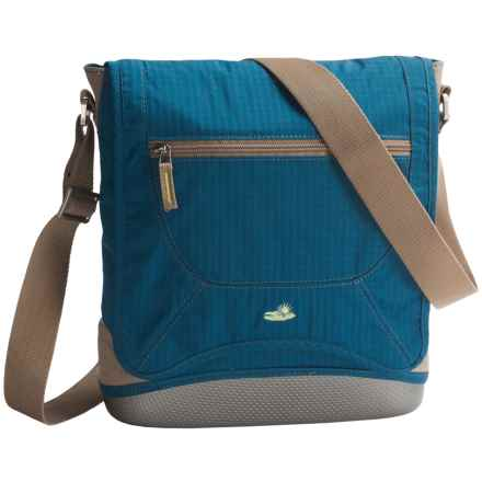 Lilypond Rainshower Waxed Canvas Shoulder Bag (For Women) in Mariner Blue - Closeouts