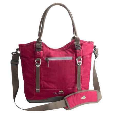 Lilypond Windflower Tote Bag in Alpine Berry - Closeouts