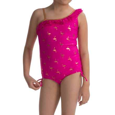 Limited Too Flamingo One-Piece Swimsuit - Fully Lined (For Big Girls) in Pink - Closeouts