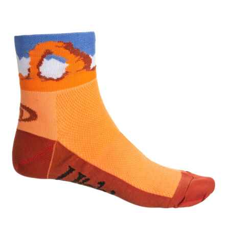 83e4f32b436 LIN Utah Cycling Socks - Quarter Crew (For Men and Women) in Orange -