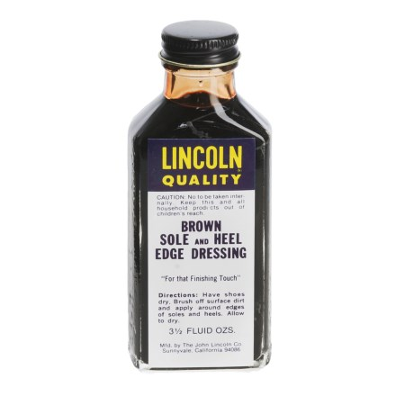 Lincoln Shoe Polish Company Premium Sole/Heel Edge Dressing - 3.5 fl.oz. in Brown